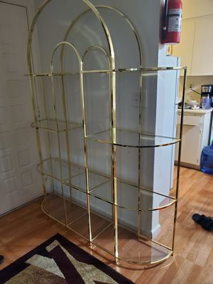Glass and Brass Shelf for Sale in Sacramento, CA
