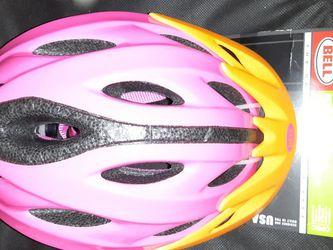 Bell Pink,black and Orange Girl Bicycle Helmet for Sale in Germantown,  MD