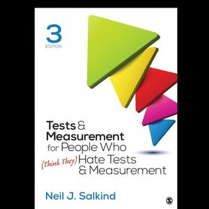 Tests & Measurement for People Who (Think They) Hate Tests & Measurement Third Edition 9781506368382 eBook PDF Free Instant Delivery for Sale in Ontario, CA