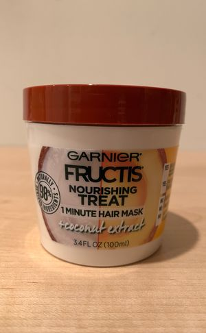 Garnier Fructis 1 minute coconut hair mask 3.4 oz for Sale in Alexandria, VA
