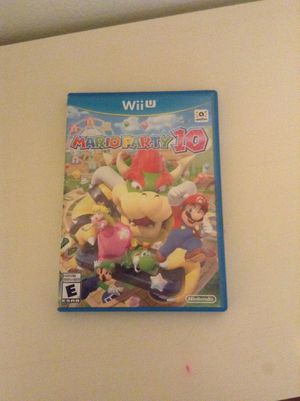Mario party 10 for wii U for Sale in Irving, TX