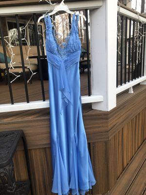 Mary L Couture Light Blue Prom Formal Dress Size 4 for Sale in Fairfax, VA