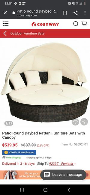 New Outdoor Patio Round Daybed Furniture Set for Sale in Compton, CA