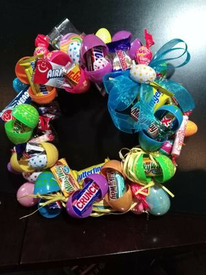 Easter egg candy Wreath for Sale in Seattle, WA