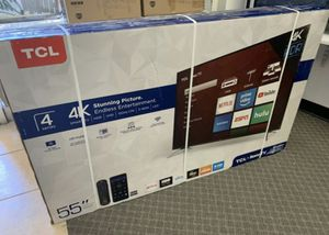 """55"""" TcL roku smart 4K led uhd hdr tv for Sale in Anaheim, CA"""