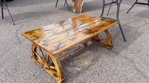 Upcycled, wagon wheel coffee table for Sale in Payson, AZ