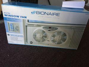 Bionaire Reversible Airflow Twin Window Fan w/ Remote & Digital Thermostat for Sale in Gardena, CA