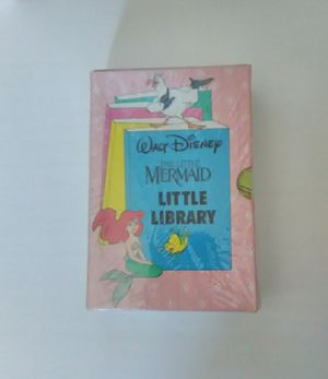 1990 WALT DISNEY THE LITTLE MERMAID LITTLE LIBRARY 4 BOOK SET • NEW/SEALED! for Sale in Orange, CA