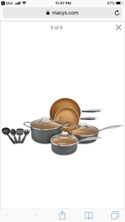 Crux 12 piece set copper titanium cookware for Sale in Herndon,  VA