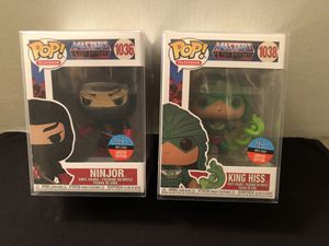 Funko POP! Masters of the Universe Ninjor and King Hiss Toy Tokyo Set NYCC SOLD OUT for Sale in Huntington Beach, CA