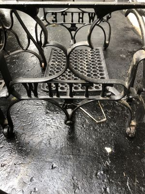 Vintage White Sewing Machine Treadle Iron Base for a CoffeeTable for Sale in Canonsburg, PA