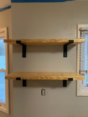 Custom heavy duty open farmhouse shelves for Sale in Portage, MI