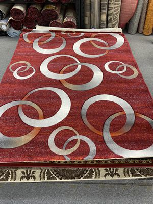 Burgundy and rust color area rug brand new for Sale in Salem, OR