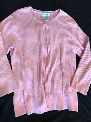 Ladies pink small worthington sweater spring cardigan for Sale in Taylors, SC