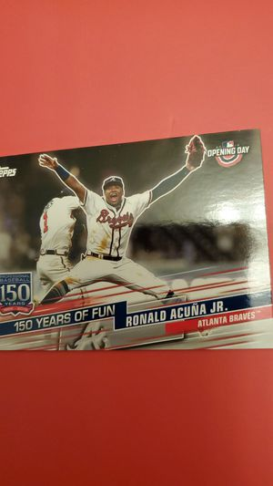 2019 Topps Ronald Acuna Jr. Opening Day Baseball Card for Sale in Alexandria, VA
