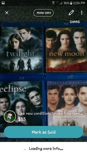 Twilight blue rays movie bundle for Sale in Loganton, PA