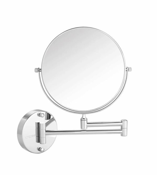 Wall Mount Makeup Mirror, Cozzine 10x Magnifying Two Side Vanity Extendable