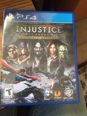 PS4 Injustice Gods among Us Ultimate Edition for Sale in Alexandria, VA