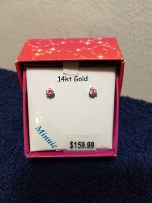 Disney Pink diamond earrings for Sale in Penn Hills, PA