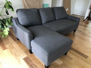 Grey sectional couch with chaise for Sale in Westminster, CA