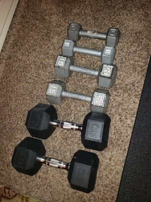 Dumbbells weights $70 obo for Sale in Renton, WA
