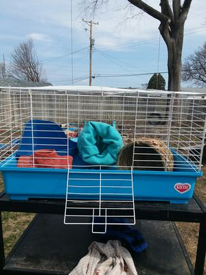 Rabbit or small animal cage and stuff for Sale in Silvis, IL