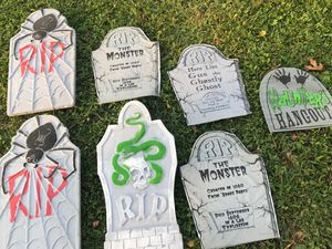 Halloween tombstones decorations for Sale in Atco, NJ