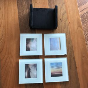Picture Glass coaster set of 4 (Tribeca manhattan) for Sale in New York, NY