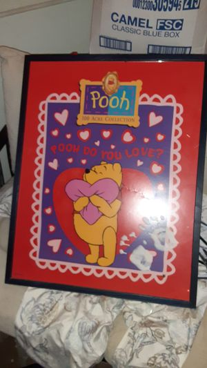 Framed glass winnie the pooh picture for Sale in St. Louis, MO