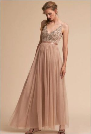 BHLDN Avery Dress-Blush-Size 14 for Sale in Seattle, WA