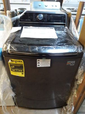 LG black stainless steel top load NEW WASHER 12 MONTHS WARRANTY available for pick up or deliver for Sale in Lansdowne, MD