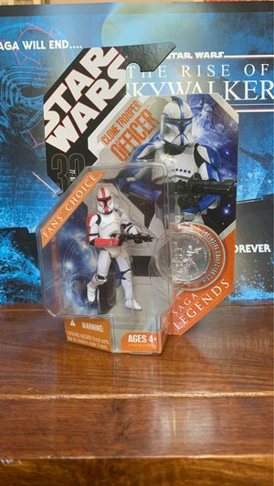 Star Wars Saga Legnds Red clone trooper officer action figure for Sale in Castro Valley, CA