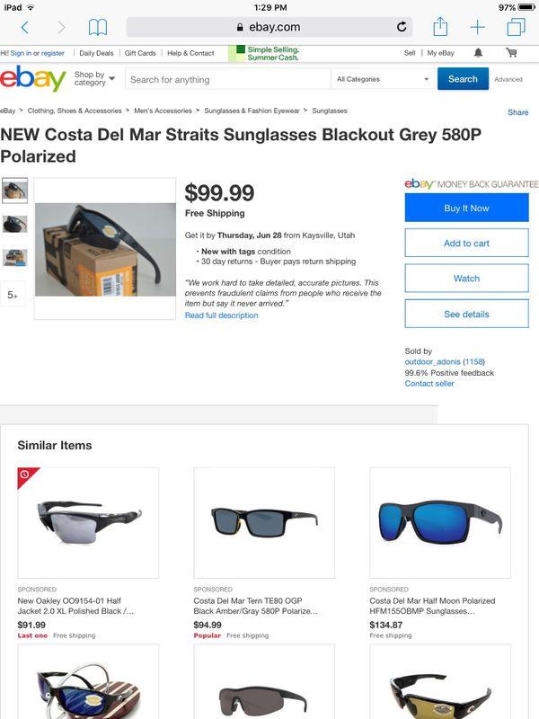 94a84ad5f9c8 Costa del Mar Straits Sunglasses. Brand New Never Used!! for Sale in ...