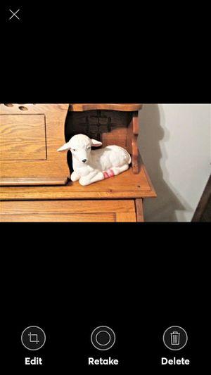 Ceramic Glazed Lamb Figurine for Sale in Lynchburg, VA