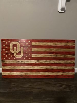 OU Wood Flag for Sale in Midwest City, OK