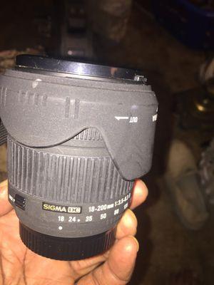 Sigma Nikon camera lenses 18-200 for Sale in Sacramento, CA