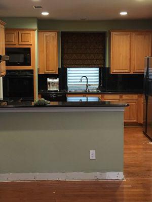 Oak kitchen cabinets & black granite counters for Sale in Dallas, TX