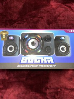 Exclusive Bugha LED Gaming Speakers & Subwoofer Set, 3.5mm Aux-in - Brand New! for Sale in West Hills,  CA