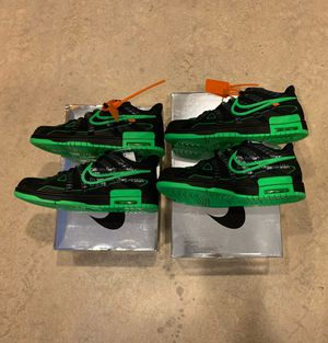 Off White x Nike Rubber Dunks Green Strike Size 9.5 & Size 11.5 for Sale in Denver, CO
