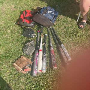 Baseball Bats And Gloves And Bags for Sale in Norwalk, CA