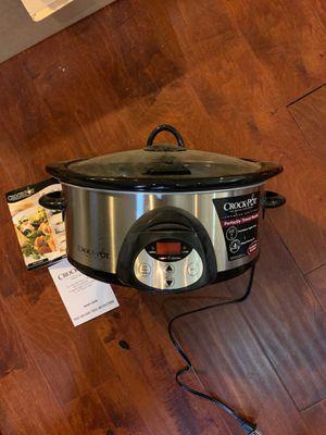 Rival Crock Pot Smart Pot 6qt Automatic Slow Cooker premier Edition + cook book Scvc604 for Sale in Walnut, CA