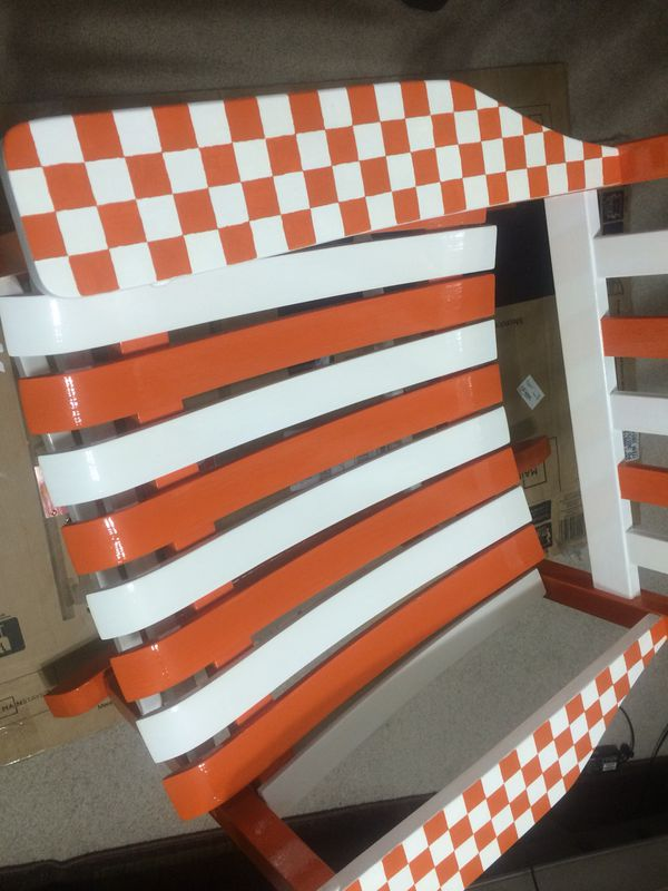 Prime Hand Painted Tennessee Vols Rocking Chair For Sale In Dailytribune Chair Design For Home Dailytribuneorg