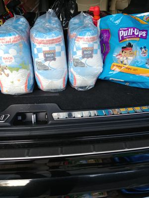 Huggies Pull-ups 3T-4T 3 unopened packages approx 75 for Sale in San Marcos, CA