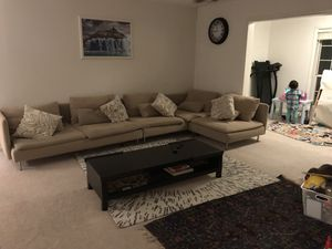 Washable/removable covers full set sofa with cushions for Sale in Woodbridge, VA