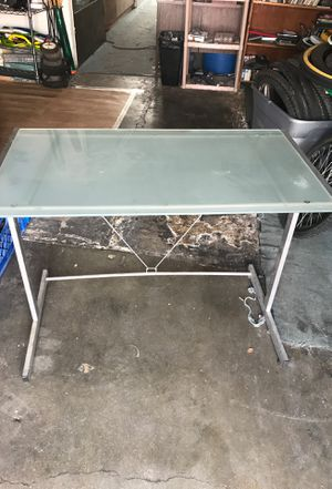 Frosted glass desk for Sale in San Bernardino, CA