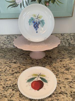 Vintage Westmoreland Beaded Milk Glass Plates for Sale in Ashburn, VA