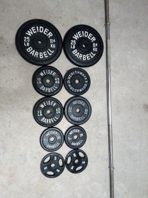 "Standard 1"" Barbell + 110lbs (workout;exercise) for Sale in Katy, TX"