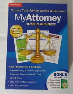 My Software 'My Attorney' Home and Business (Family, Estate, and Business Planning) for Sale in Arlington,  TX
