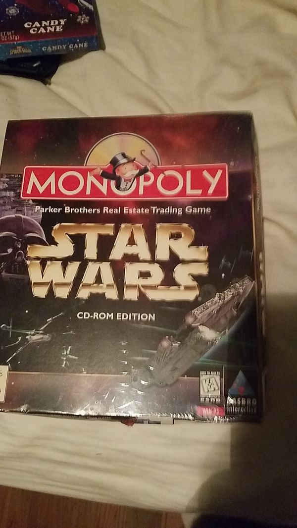 Star wars monopoly cd windows 95 vintage game