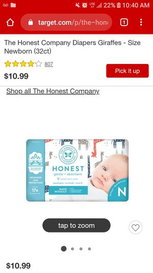 *New Diaper Bundle* 3Packs of 40ct. Honest Newborn Diapers for Sale in Fullerton, CA